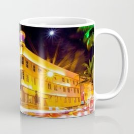 Art Deco Cardozo Hotel South Beach, Miami Night Scene Portrait by Jeanpaul Ferro Coffee Mug