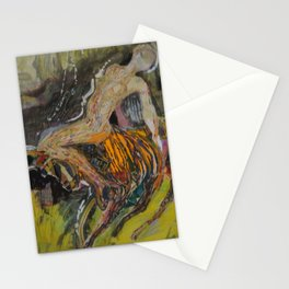 woman on the bull Stationery Cards