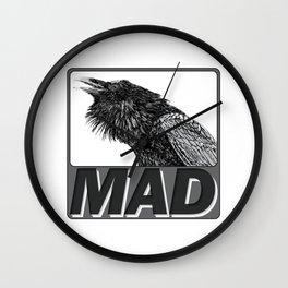 Raven Mad Wall Clock