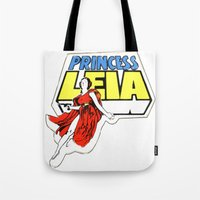 princess leia Tote Bags featuring Princess Leia by Popp Art