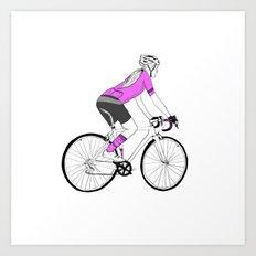 Girl Cyclist Art Print