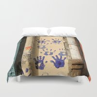 street Duvet Covers featuring Street by Antonino Clemenza