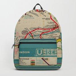 London Undergroud Map 1910 Backpack