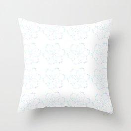Blue Atomic Stars Throw Pillow