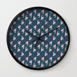 Geometric Bird Pattern Wall Clock