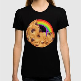 Chocolate Biscuit Chip Cookie Rainbow Pride Gift T-shirt