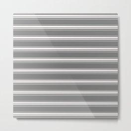 grey white stripes Metal Print
