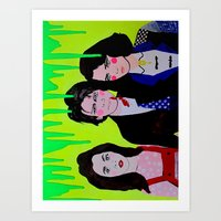 heathers Art Prints featuring Heathers by MICHELLE GUINTU