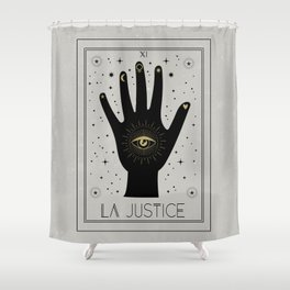 La Justice or The Justice Tarot Shower Curtain