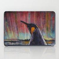 penguin iPad Cases featuring Aurora Penguin by Michael Creese