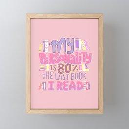 Book Nerd Personality Retro Pink Framed Mini Art Print