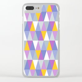 Triangles   Purple, Yellow & Blue Clear iPhone Case