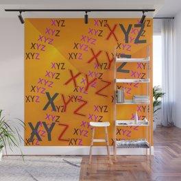 XYZ - pattern Wall Mural