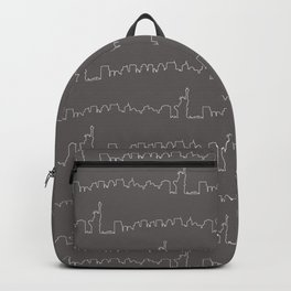 New York Skyline // Charcoal Grey Backpack