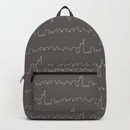 New York Skyline // Charcoal Grey Backpack