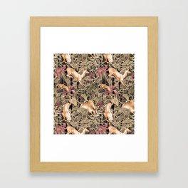 Wild life pattern Framed Art Print