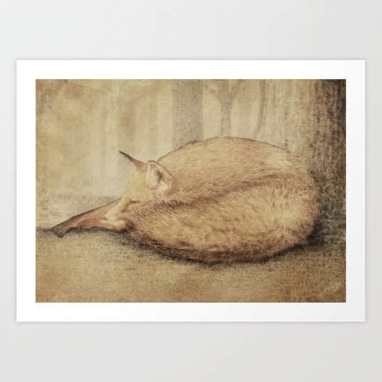 A Quiet Place (sepia option) Art Print