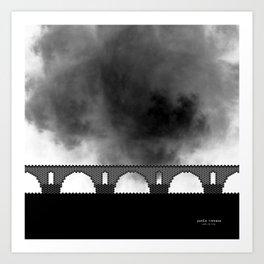 HexArchi - Portugal, Ponte de Lima, Ponte Romana Art Print