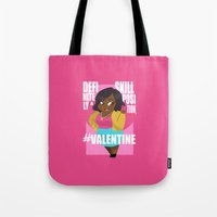 valentines Tote Bags featuring #Valentines by Ana Amorim