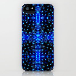 Sparkling Blue Turquoise Pattern iPhone Case