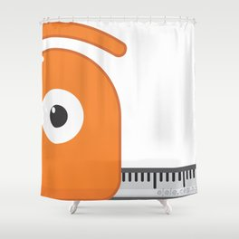 the size of the glance Shower Curtain