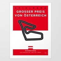 My F1 Osterreichring Race Track Minimal Poster Art Print