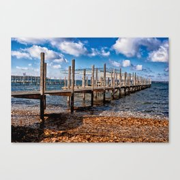 Autumn Dock Canvas Print