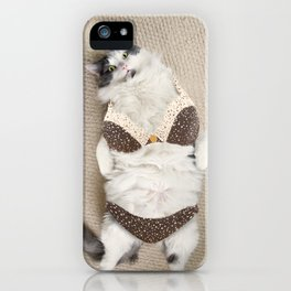 Fat Cat Wearing Bikini iPhone Case