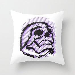 skull line Throw Pillow