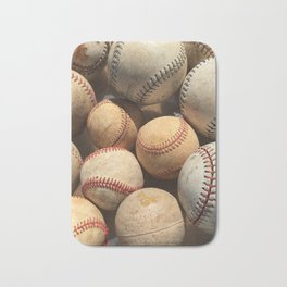 Baseball Obsession Bath Mat
