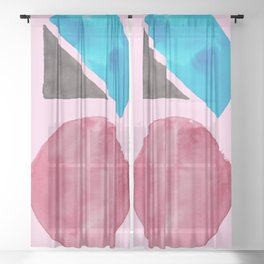 11    Imperfection   190325 Abstract Shapes Sheer Curtain
