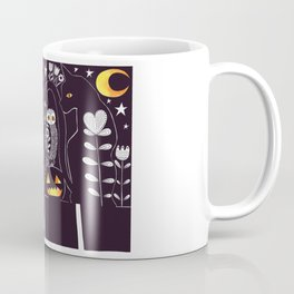 Folk Art Black Cat Halloween Coffee Mug