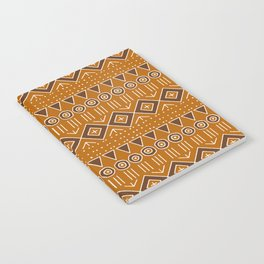 Mudcloth Style 2 in Burnt Orange and Brown Notebook
