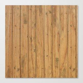 Rustic Wood Panel Pattern Canvas Print