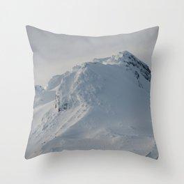 Mt Hood - Early Winter Throw Pillow
