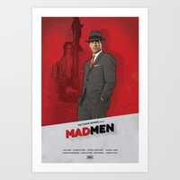 mad men Art Prints featuring Mad Men by Benjamin Surkus