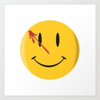 watchmen Art Prints featuring Who watches the watchmen?  by Vickn
