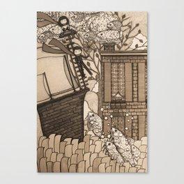 Adventure (in sepia) Canvas Print