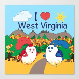 Ernest and Coraline | I love West Virginia Canvas Print