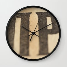 Stained Wall Clock