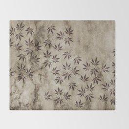 Marijuana Marble Throw Blanket