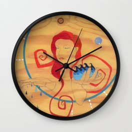 Aquarius, the Water Bearer Wall Clock