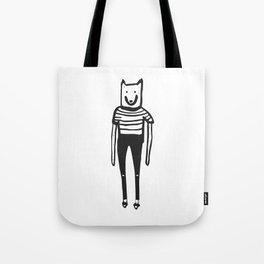 Wolfie and the gang. Minus the gang. Tote Bag