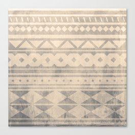 Ethnic geometric pattern with triangles circles shapes and lines Canvas Print
