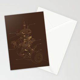 Recycling Robot Stationery Cards