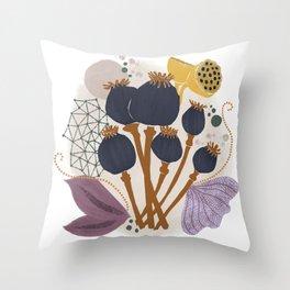 Fall Floral Bouquet Throw Pillow