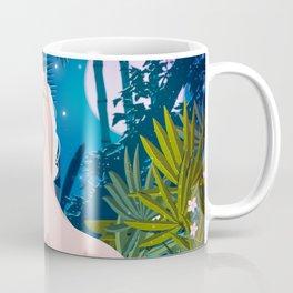Fabulous unicorn in tropical flowers and plants Coffee Mug
