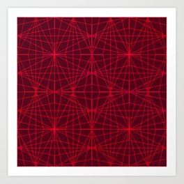 ELEGANT DARK RED GRAPHIC DESIGN Art Print