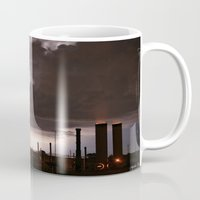 industrial Mugs featuring Industrial Spark by Augustina Trejo