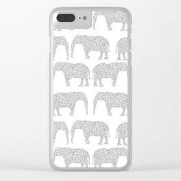Alabama bama crimson tide elephant state college university pattern footabll Clear iPhone Case